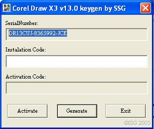 corel draw x3 v13 keygen by ssg